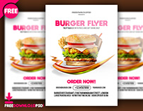 Burger Flyer Free PSD