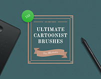 Ultimate Cartoonist Brushes for Illustrator