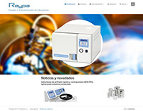 Website for laboratory equipment distributors