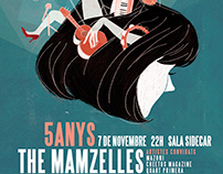 The Mamzelles - Cartel 5º Aniversario