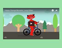 Happy Orange Monster_Loop Video