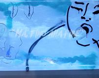 """""""Ma, fino alla fine"""" Video painting performance"""
