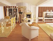 Design interior living clasic casa Brasov