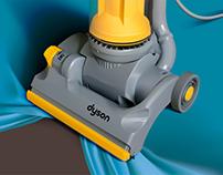 Dyson Vacuum Illustration