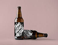 Packaging Design // Beer Label for Pissed Modernism
