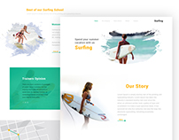 Surfing Landing Page Concept