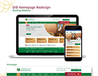DIB Banking Website Concept