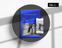 Free A4 Magazine Cover with iPhone Mockup
