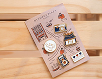 OLYMPUS PLAZA TAIPEI Enamel Pins Set Design 紀念徽章設計