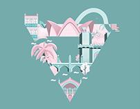 Valencia city Flat ● Illustration