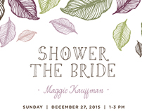 Organic Bridal Shower Invitation - Maggie and Chuck