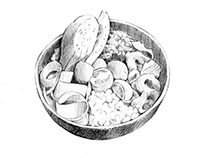 Food bowles illustrations