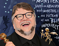 Guillermo del Toro Illustration for Rise Up