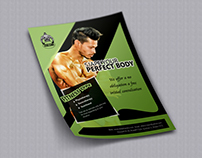 Fitness gym flayer design