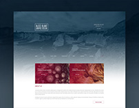 Blue & Red Velvet : Free Portfolio PSD Template