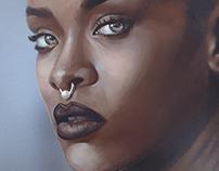 Rihanna : Dark Skin study