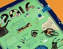 """Pool"" 2016 Wall Calendar"
