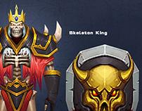 Skeleton King 3d character design