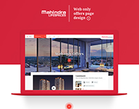Mahindra LIFESPACES web only offers Landing page