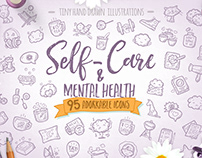 Self-care & Mental Health - Premium Icon Pack
