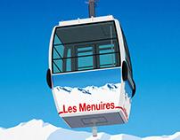 Les Menuires Ski Poster