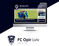 Website for the football club