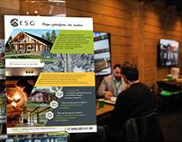 Выставочная полиграфия для строительного холдинга ESG