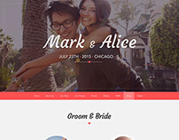 Love Ceremony - Wedding PSD Template