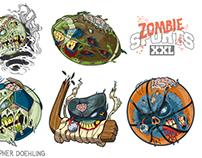 Zombie Sports Equipment Illustrations