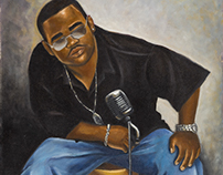 "Oil Painting ""Mr. Curtis the Entertainer"""