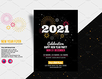 New Year Party Flyer 2021
