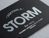 CREATING A STORM BUSINESS CARDS