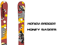 Honey Badger Ski Design for Argent Skis