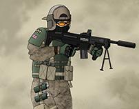 S.A.S. Operator Concept Art