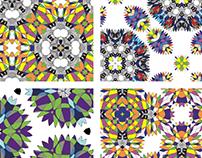 Colour flower pattern