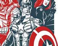 Captain America Winter Soldier Fan Poster