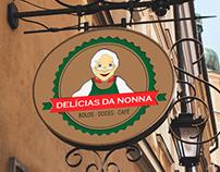 Logomarca e Projeto Gráfico Delícias da Nonna.