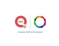QVC Emerging Platform Development Team Logo Design
