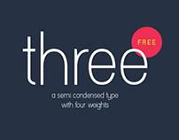 Three : Free Semi Condensed Font