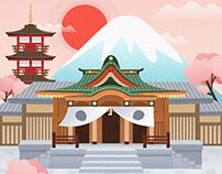 【插画】古城建筑