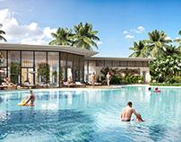 Club House_Pool_Render LeHong Design.