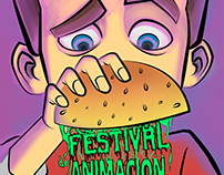 Cartel para Festival de Animación.