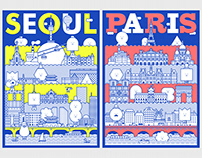 MONSTER CITY SERIES : SEOUL / PARIS