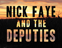 Nick Faye & The Deputies Poster Design