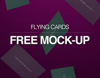 Free Flying Cards Mockup