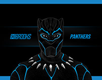 Carolina Black Panther Illustration