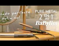 BABYLISS PURE METAL. CONTI&SACIART. ESTILISMO.STYLIST.