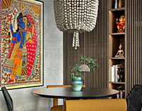 Eclectic style apartment