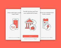 Walkthrough screens - Bookmyshow app