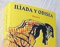 Diseño e ilustración de portada — Ilíada y Odisea